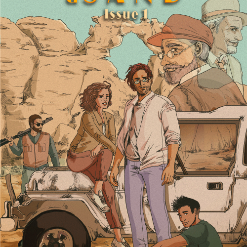 Amirak Delat: Words and Sand #1 - Cover art