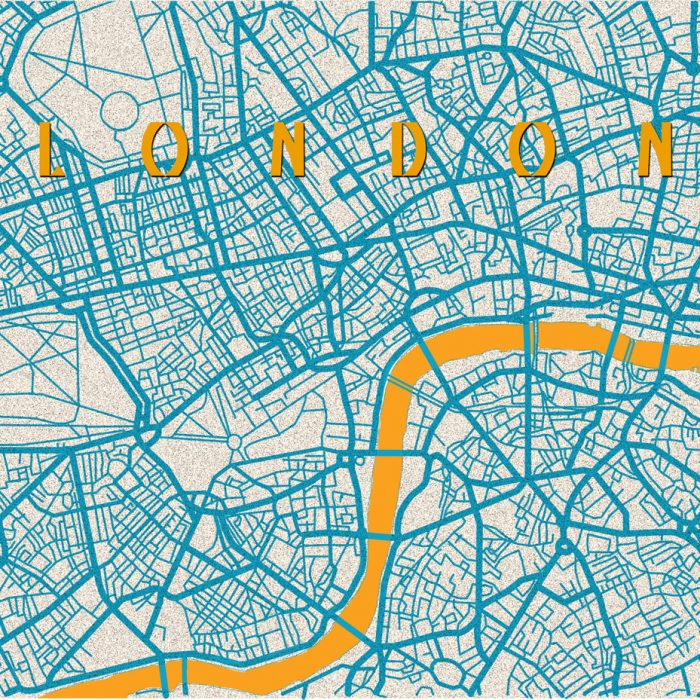 Amirak Delat - London Map Blue